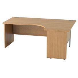 image-Derry Corner Desk Mercury Row Finish: Light Oak, Size: 72.5 cm H x 160 cm W x 80 cm D