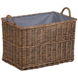 image-Hartleys Lined Wicker Log Basket