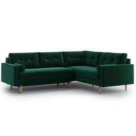 image-Sophia Reversible Sleeper Corner Sofa Bed Hykkon Upholstery Colour: Bottle Green, Orientation: Left Oriented