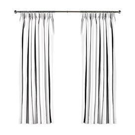 image-Koemi Ambassador Pencil Pleat Room Darkening Curtains August Grove Colour: White, Panel Size: 140 W x 135 D cm