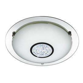image-Searchlight 3883-31 Bathroom Flush Ceiling Light In Chrome - Dia: 320mm