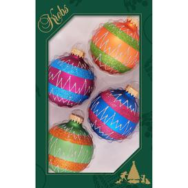 image-Stripes and Zigzags Christmas Baubles
