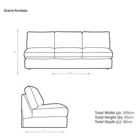 image-House by John Lewis Oliver Modular Grand 4 Seater Armless Sofa Unit