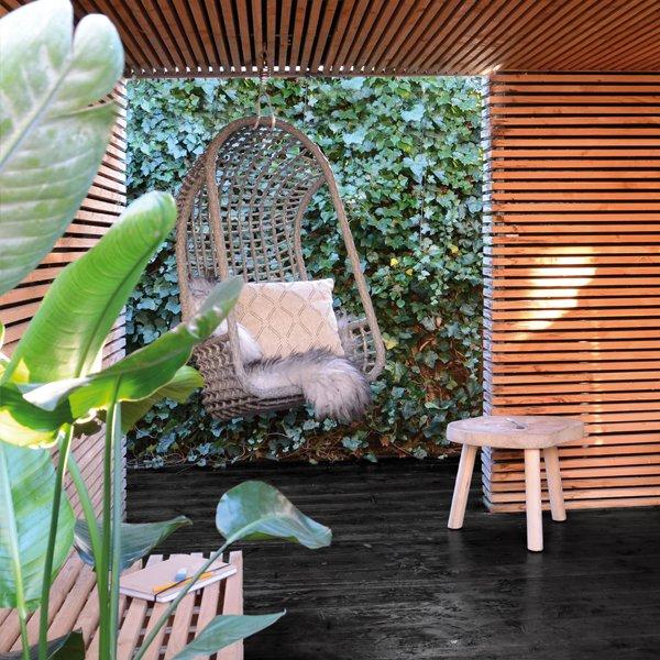 image-Cromer Outdoor Hanging Chair Grey