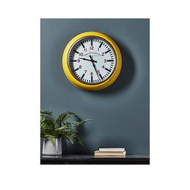 image-Cox & Cox Yellow Gas Station Style Clock