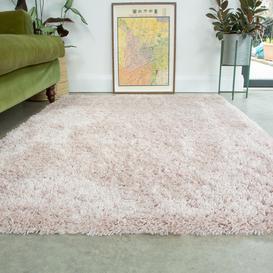 image-Super Soft Luxury Blush Pink Shaggy Rug - Aspen