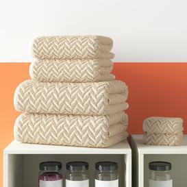 image-6 Piece Towel Bale Hashtag Home Colour: Natural