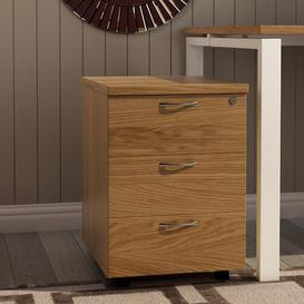 image-3 Drawer Filing Cabinet Mercury Row Colour: Oak