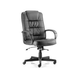 image-Moore Leather Executive Office Chair In Black With Arms