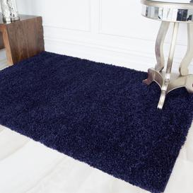 image-Navy Blue Shaggy Rug - Vancouver