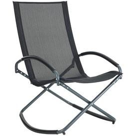 image-Nayla Rocking Chair Sol 72 Outdoor Colour (Fabric): Black