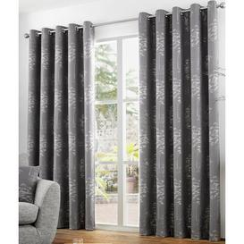 image-Bockman Eyelet Room Darkening Curtains Three Posts Panel Size: 229 W x 229 D cm, Colour: Graphite