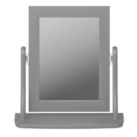 image-Baroque Dressing Table Mirror Grey