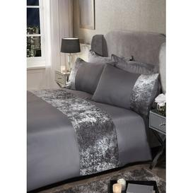 image-Cavallaro Duvet Cover Set Rosdorf Park Colour: Silver, Bed Size: Single