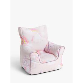 image-little home at John Lewis Magical Unicorn Bean Bag Chair, Pink