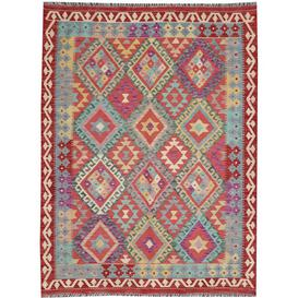 image-Carmiencke Traditional Handmade Kilim Wool Red/Blue Rug Bloomsbury Market