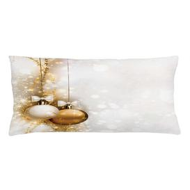 image-Jolyon Christmas New Years Ribbon Outdoor Cushion Cover Ebern Designs Size: 40cm H x 90cm W