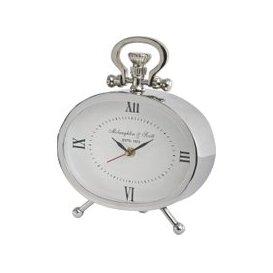 image-Libra Oval Silver Mantel Clock