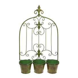 image-Bronze Effect Wall Triple Planter
