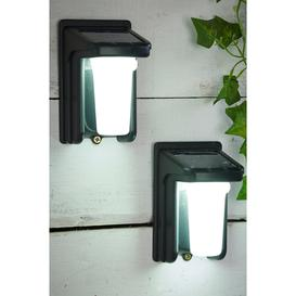 image-Pair of Solar PIR Security Lights