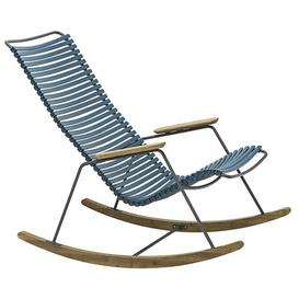 image-Click Rocking chair - Plastic & bamboo by Houe Blue