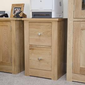 image-Homestyle Torino Oak Filing Cabinet