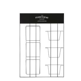 image-Wall-mounted magazine rack in black metal