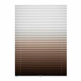 image-Semi-Sheer Pleated Blind Mercury Row Finish: Brown, Size: 85 W x 130 L cm