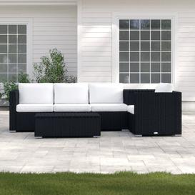 image-4 Seater Rattan Corner Sofa Set Sol 72 Outdoor