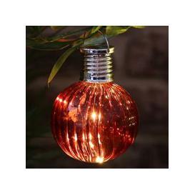 image-Bright Garden Solar Glass Bulb Light - Red