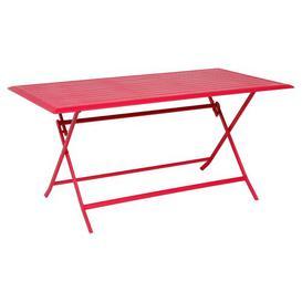 image-Telemanus Folding Aluminium Bistro Table Sol 72 Outdoor Colour: Cherry, Size: 71cm H x 71cm W x 110cm D