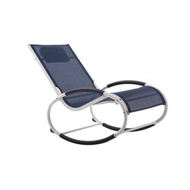 image-Allete Rocking Chair with Cushion Sol 72 Outdoor Finish: Navy