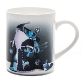 image-Blue christmas Mug by A di Alessi White,Blue
