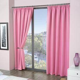 image-Pencil Pleat Blackout Thermal Curtains Marlow Home Co. Panel Size: 114 W x 229 D cm, Colour: Pink