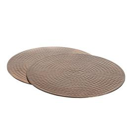 image-Waltham Cross Flat Hammered Copper Place Mats Canora Grey