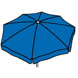 image-Amari 3m Traditional Parasol Freeport Park Fabric colour: Blue