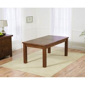 image-Mark Harris Rustique Dark Solid Oak 178-270cm Rectangular Extending Dining Table