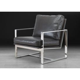 image-Stone International Febo Leather Occasional Chair