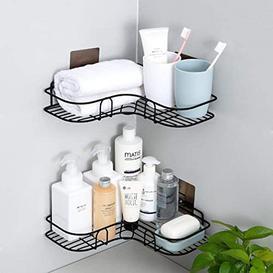 image-Rebrilliant Shower Caddy Bathroom Corner Shelf Kitchen Shelves Storage Organizer Basket Tidy No Drilling Rustproof Shampoo Conditioner Holder(2 Pcs) (