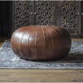 image-Gallery Banbridge Leather Pouffe