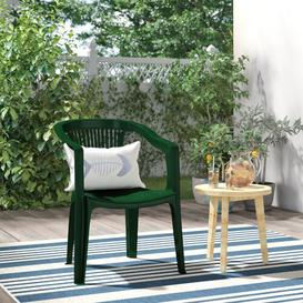 image-Shearer Stacking Dining Chair Dakota Fields Seat Colour: Forest Green
