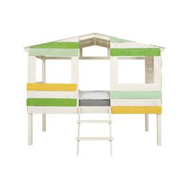 image-Safari European Single Mid Sleeper Bed with Tunnel Massivum Colour (Bed Frame): Beige/Green/Yellow