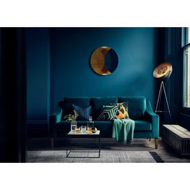 image-Heal's Richmond 2 Seater Sofa Smart Luxe Velvet Azure Black Feet