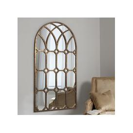 image-Gallery Direct Khadra Gold Arched Window Pane Mirror