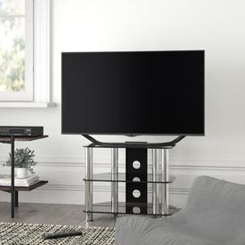 "image-Glass Corner TV Stand for TVs up to 32"" Symple Stuff"
