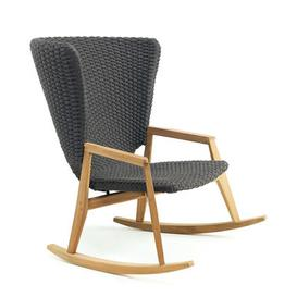 image-Knit Rocking chair - / Synthetic rope by Ethimo Grey