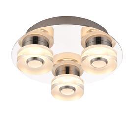 image-Orah 4.5W LED RGB bathroom flush ceiling light - 3-light dimmable chrome â 87357.