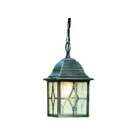 image-Genoa Outdoor Porch Light In Black And Silver