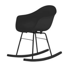 image-TA Rocking chair - Wood sledge by Toou Black