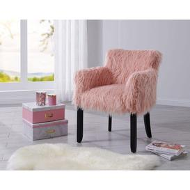 image-Faux Sheepskin Tub Chair - Pink